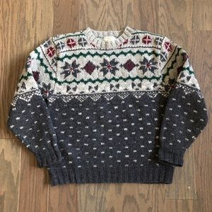 VTG Banana Republic Safari Wool Nordic Sweater